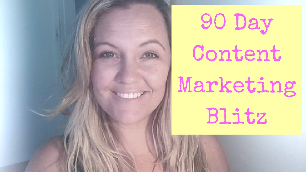 Tracey Rose's 90-Day Content Marketing Blitz