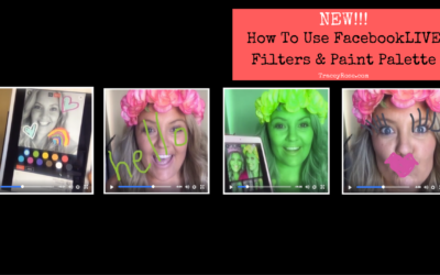 NEW! .. How To Use The FacebookLIVE Filters & Paint Palette